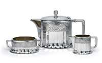 dreiteiliges teeservice (set of 3) by hans bolek