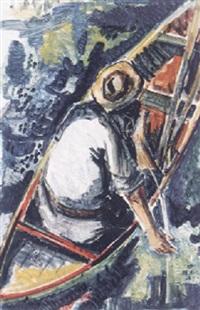 fischer im boot by ludwig miller