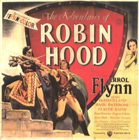 movie: errol flynn in the adventures of robin hood (on 4 joined sheets) by posters: movie