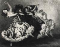can-can tänzerinnen by ludwig von langenmantel