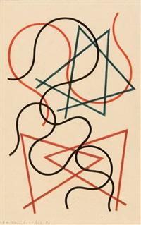 lignes géometriques et ondoyantes by sophie taeuber-arp