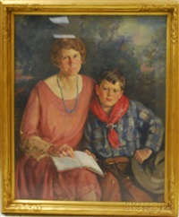 a mother and her young son by frank clifford ashford