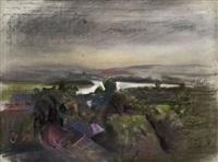 landschaft (blatt beidseitig bemalt) by josef dobrowsky