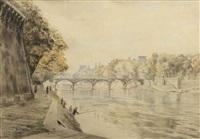 la seine au pont neuf by charles samson