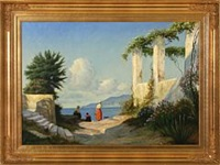 italian coastal scene by f. brinicardi