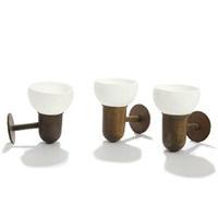 three wall lamps (3 works) by kaj gottlob
