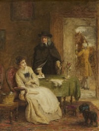 jonathan swift och vanessa by william powell frith