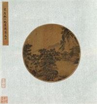 桃荫携琴图 by ma yuan