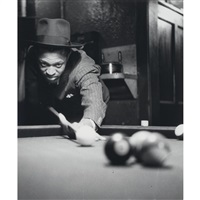 pool player, harlem, n.y by lucien aigner