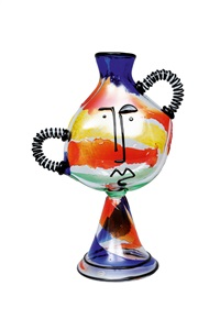 abstracted vase face by mario badioli