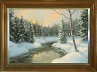 winter scene from frisenborg forest by wolmer zier
