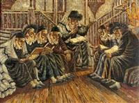 rabbis in synagogue by max jules gottschalk
