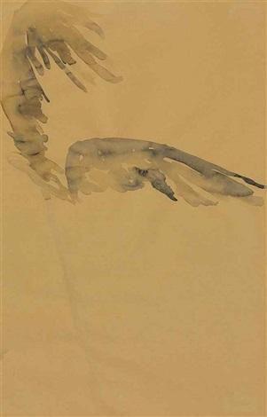 palette mit flugel auf stab (winged palette on staff) by anselm kiefer