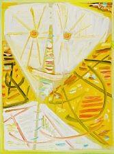 yellow mask by egill jacobsen