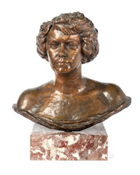 bust of a lady by arthur john fleischmann