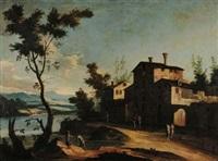 paesaggio fluviale (+ paesaggio fluviale; pair) by paolo anesi