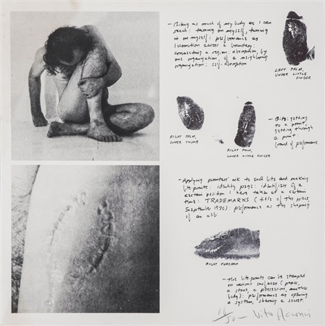 biting myself biting as much of my body as i can reach dalla serie trademark by vito acconci