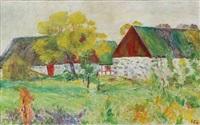 scene with a danish farm by sigurd swane