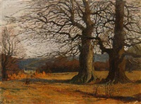 herbstlandschaft by carl jutz the younger