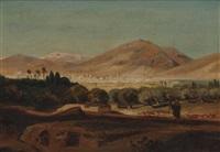 nordafrikanische landschaft by august löffler