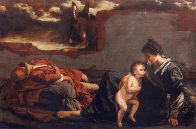 riposo durante la fuga in egitto by orazio gentileschi