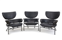 poltrone modello pl19 (set of 3) by franca helg and franco albini