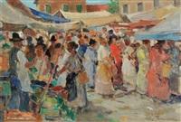 scena di mercato by ghigo tommasi