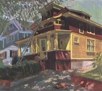 brown and yellow house by joseph l. lasker