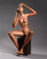 modella seduta by vitaliano de angelis