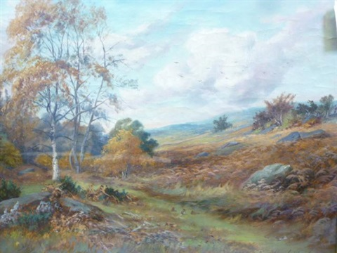 autumnal landscapes a pair by rowland ward