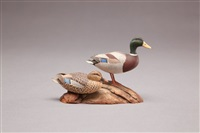 miniature mallard pair by allen j. king