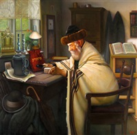 sabbath in the shtetl by eduard gurevich