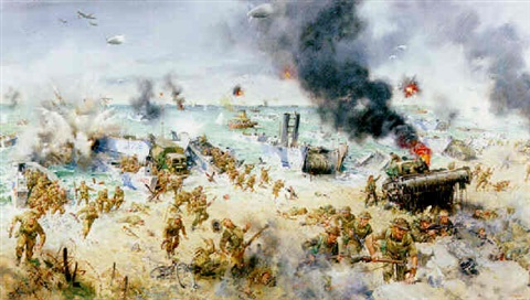 d day 6th june 1944 by terence cuneo