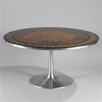 round dining table on (model 632) by poul cadovius and susanne fjeldsoe mygge