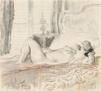 a female nude awakening from sleep by louis auguste mathieu legrand
