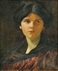 portrait of a young lady, purportedly the artist's daughter by douglas volk