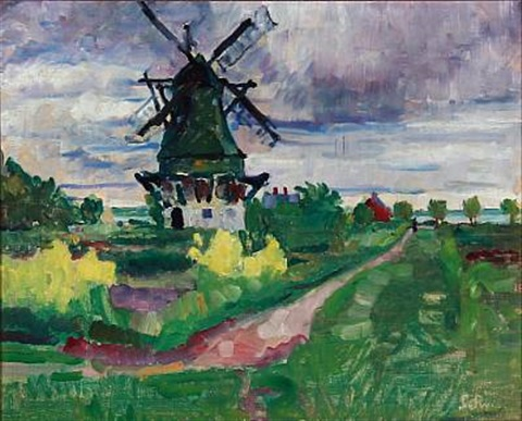 motif with a mill by sigurd swane