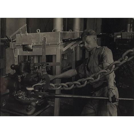machine and worker by albert renger patzsch