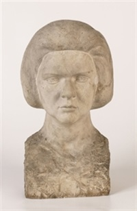 cabeza femenina by hernandez santiago de santiago