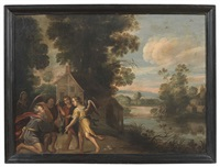 i tre angeli in casa di abramo by flemish school (17)