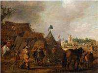 palamedesz soldaten in der kampfpause im feldlager by anthonie palamedesz