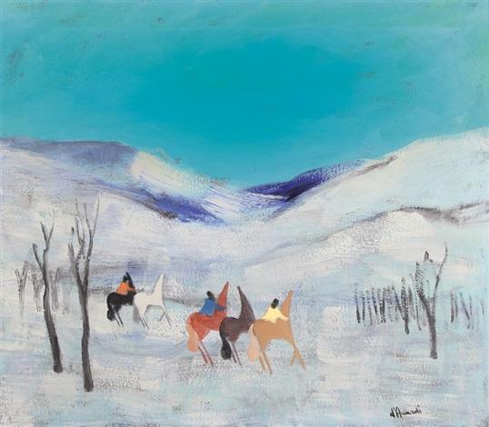 cavallini in inverno by gianrodolfo daccardi