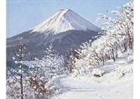 mt. fuji in the misaka gap by hiroshi higuchi