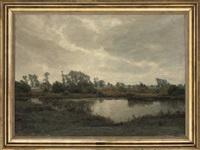 river landscape by fritz johannes bentzen-billkvist