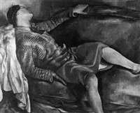 femme couchée by charles auguste humbert