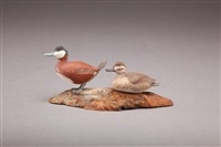 miniature ruddy duck pair by allen j. king
