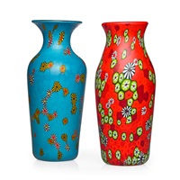kiku vases (2 works) by ermanno toso