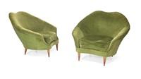 coppia di poltrone con struttura (pair) by federico munari