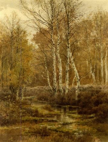 coin de mare forêt de fountainebleau by joseph clément maxime jeannot