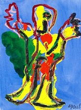 figure compositon by karel appel